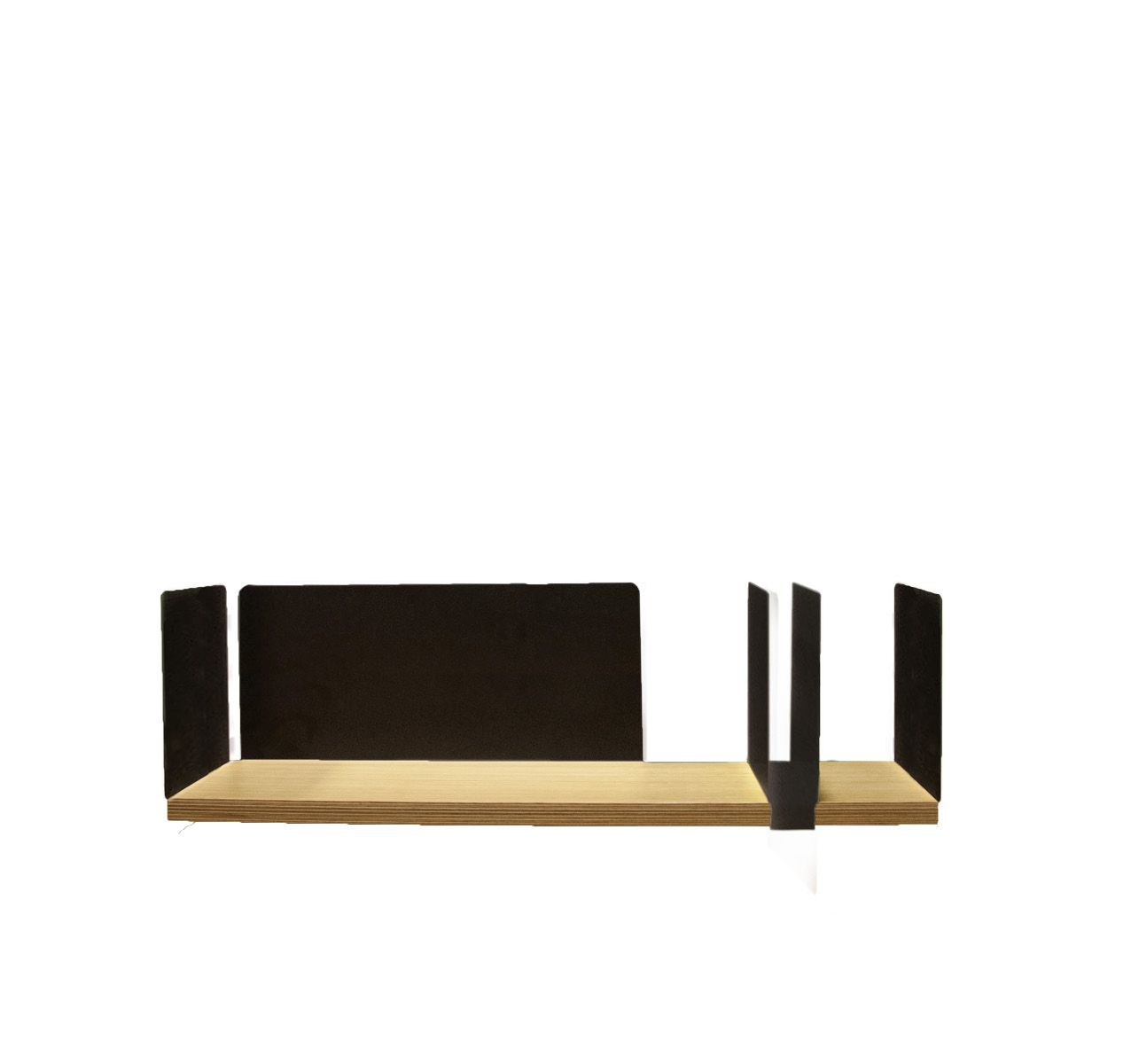 portable atelier shelf with black sliding element - фото