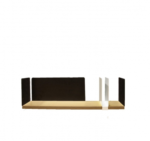 portable atelier shelf with white sliding element - фото